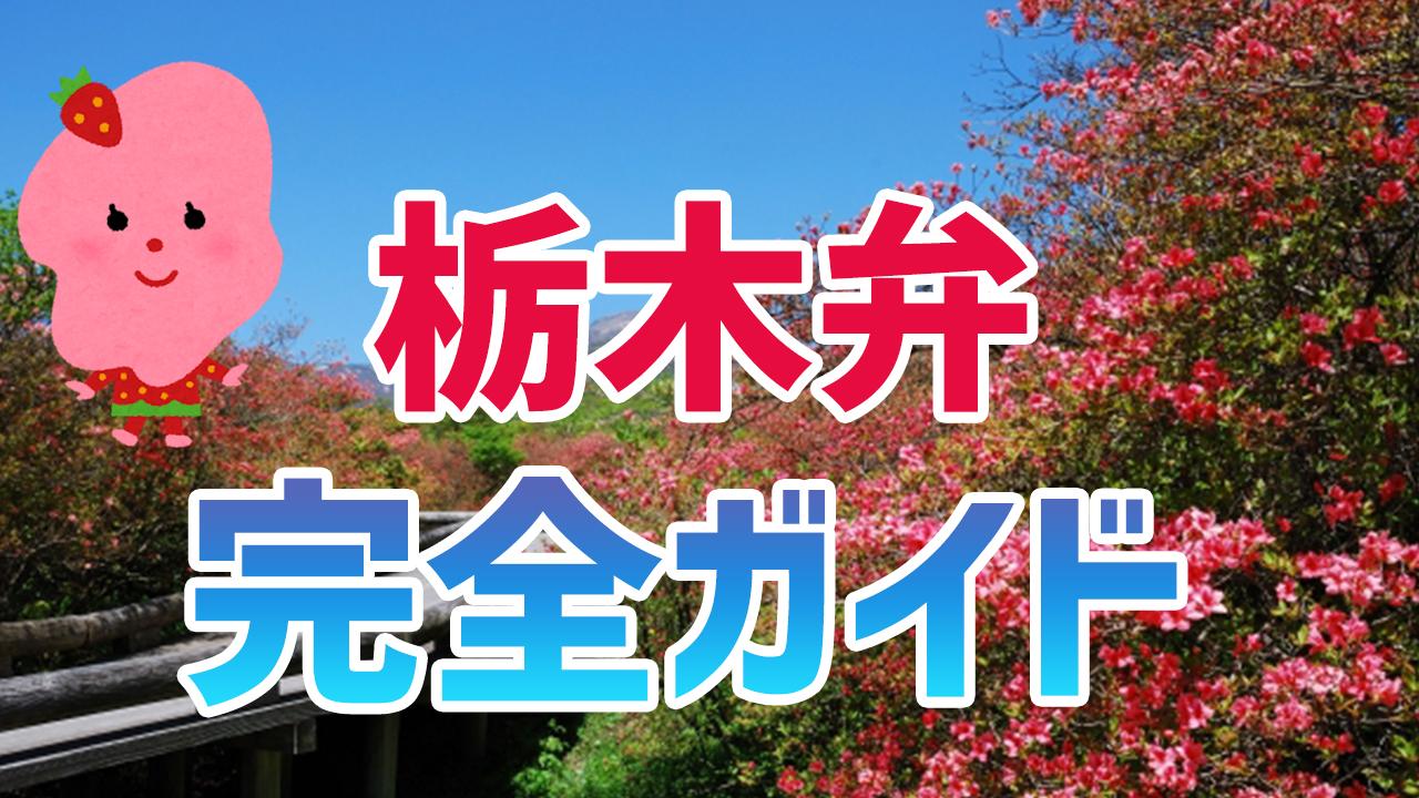 栃木県の方言丸わかり!栃木弁講座