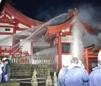 静岡市:美濃輪稲荷神社に放火した少年ら、1億2千万円請求。