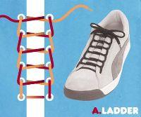 ほどけない方法や、オシャレな靴紐の結び方!