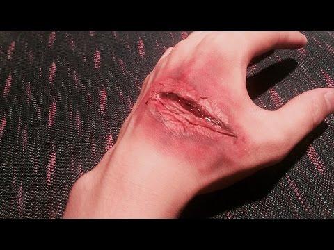 ハロウィンをお手軽にボンドやティッシュで出来る傷メイク