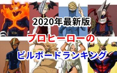 【ヒロアカ】プロヒーローのビルボードランキング2020年最新版!
