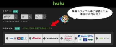 huluの口コミや料金を大調査!無料トライアル時には支払い方法を登録!?