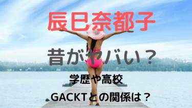 [画像]辰巳奈都子の昔がヤバい!学歴や高校とGACKTとの関係は?