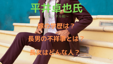 【画像】平井卓也の嫁の学歴は?長男の不祥事や長女についても!